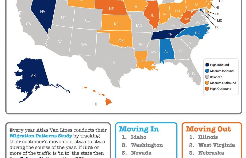 Where Did Americans Move in 2017? [INFOGRAPHIC]