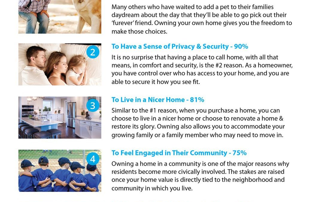 5 Reasons Millennials Choose to Buy a Home [INFOGRAPHIC]